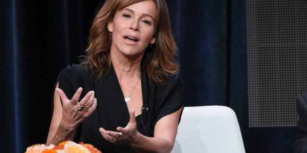 """Dirty Dancing""-Star Jennifer Grey auf der Pressekonferenz zur Amazon-Prime-Serie ""Red Oak"""
