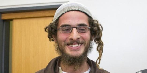 Meïr Ettinger, présenté à la cour de justice d'Israël à Nazaret, le 4 août 2015, le lendemain de son arrestation en raison de ses activités au sein d'une organisation juive extrémiste