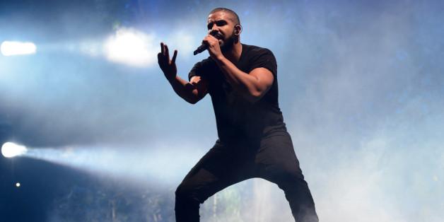 Der kanadische Sänger und Rapper Drake bei einem Auftritt in London