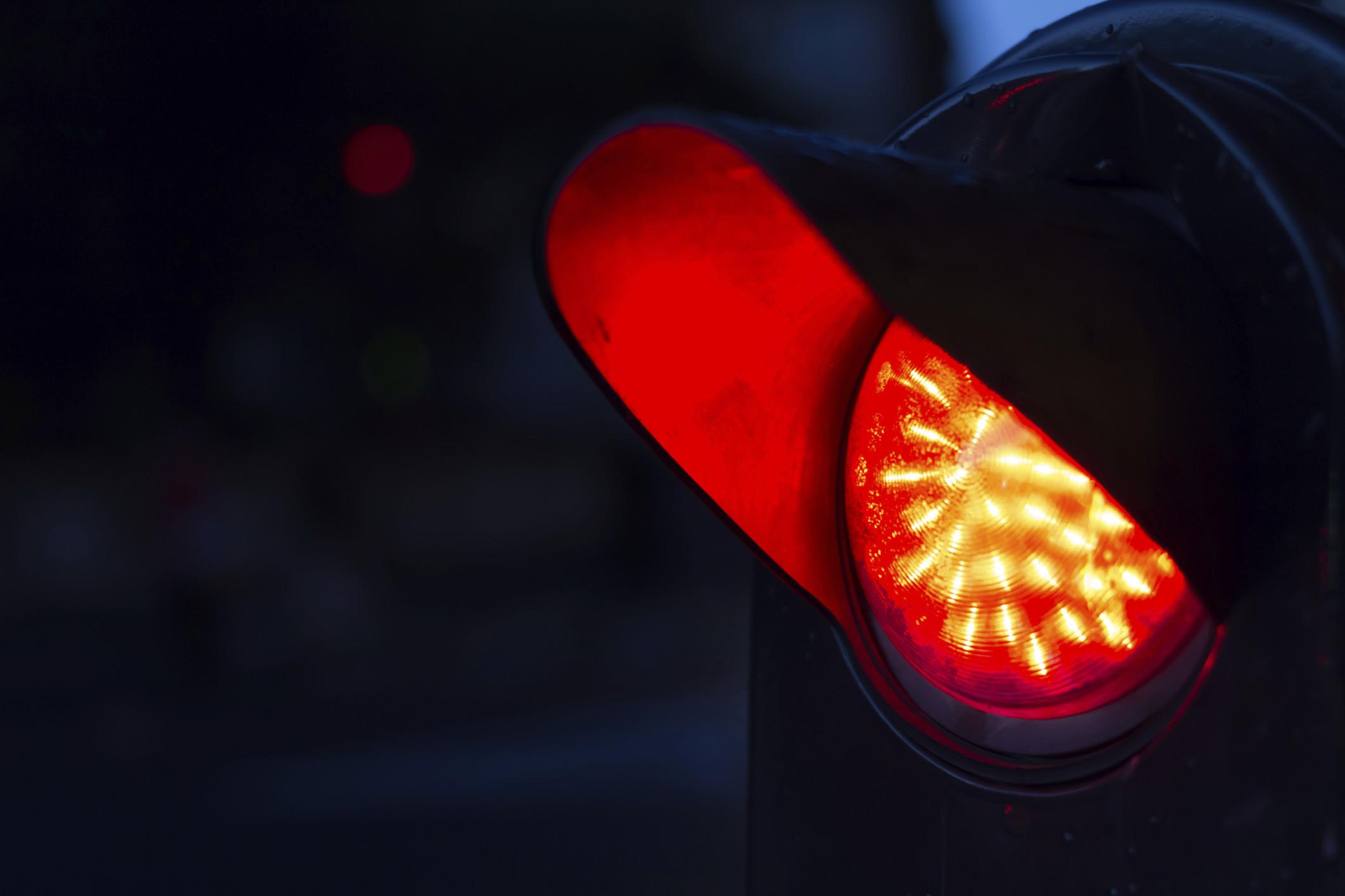 rote ampel radfahrer