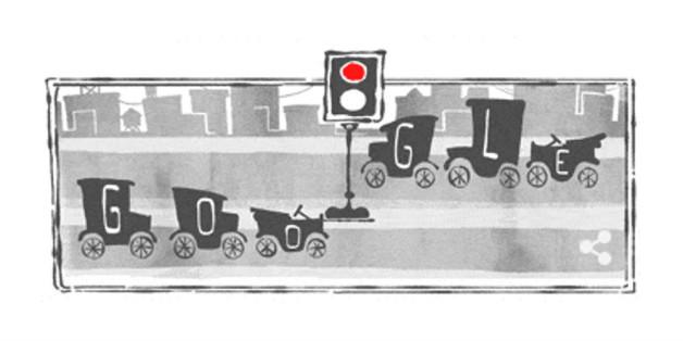 Heute läuft auf der Google-Startseite der Verkehr sehr geregelt ab