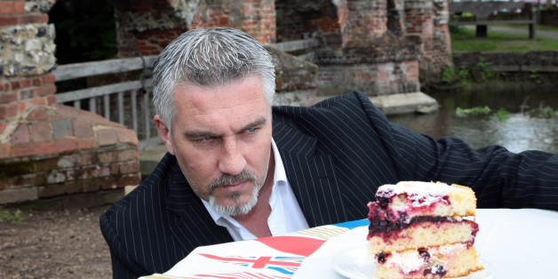 EMBARGOED 0001 FRIDAY MAY 18 Paul Hollywood from the BBCs Great British Bake Off, launches Vintage Inns Vintage Summer Cake - a triple-decker sponge cake with raspberries, blackcurrants, summer fruit syrup, cream and blueberry fruit - to celebrate Her Majesty's Diamond Jubilee, at The Lion pub in Farningham, Kent.