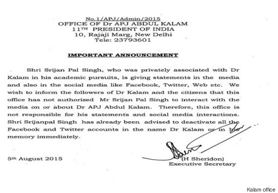 kalam statement