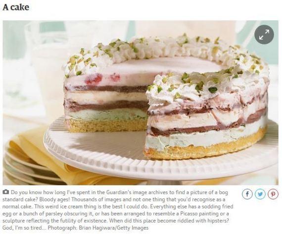 guardian cake caption