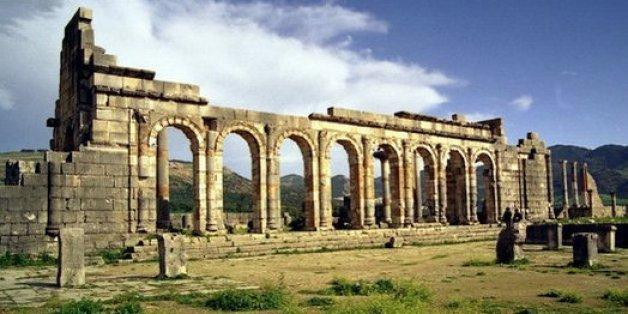 Le site historique de Volubilis au Maroc, classé au patrimoine mondial de l'UNESCO