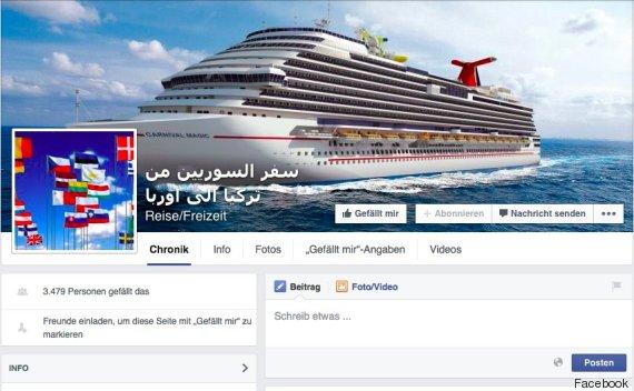 flüchtlinge schleuser facebook