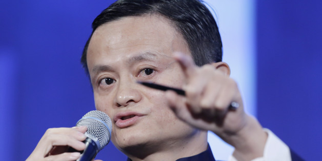 "Jack Ma, founder of Alibaba, speaks at the Clinton Global Initiative in a session,""Valuing What Matters,"" Tuesday, Sept. 23, 2014 in New York. (AP Photo/Mark Lennihan)"