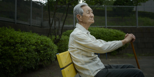An old man is absent in the park .