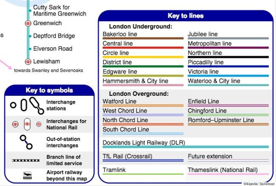 unofficial london underground map