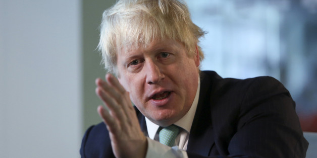 Boris Johnson, mayor of London, gestures during a Bloomberg Television interview in London, U.K., on Friday, July, 17, 2015. Johnson discussed the proposed 20 billion pounds ($31 billion) Crossrail 2 railway project through London from north of the capital in Hertfordshire to Surrey in the south. Photographer: Chris Ratcliffe/Bloomberg via Getty Images