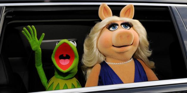 Genossen das Rampenlicht: Kermit und seine Ex