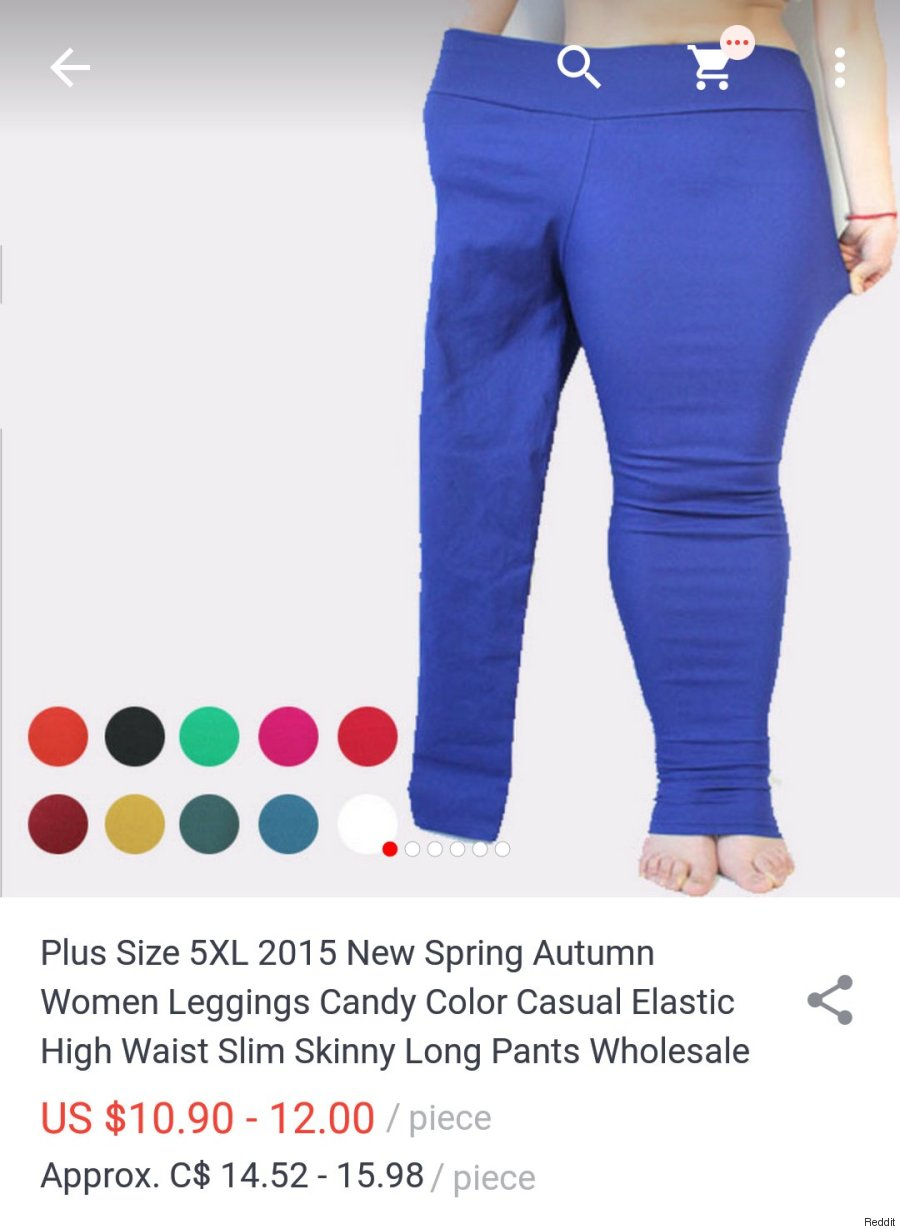 plus size legging ad