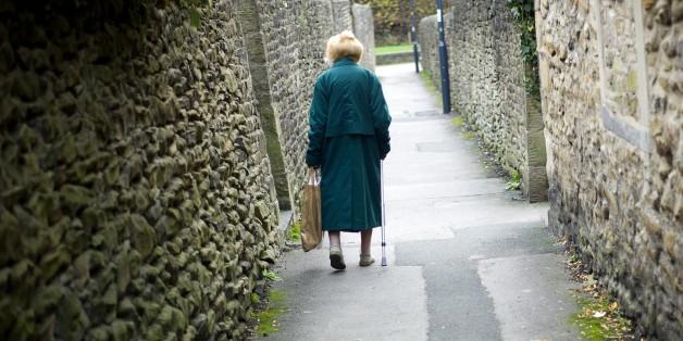Elderly lady walking