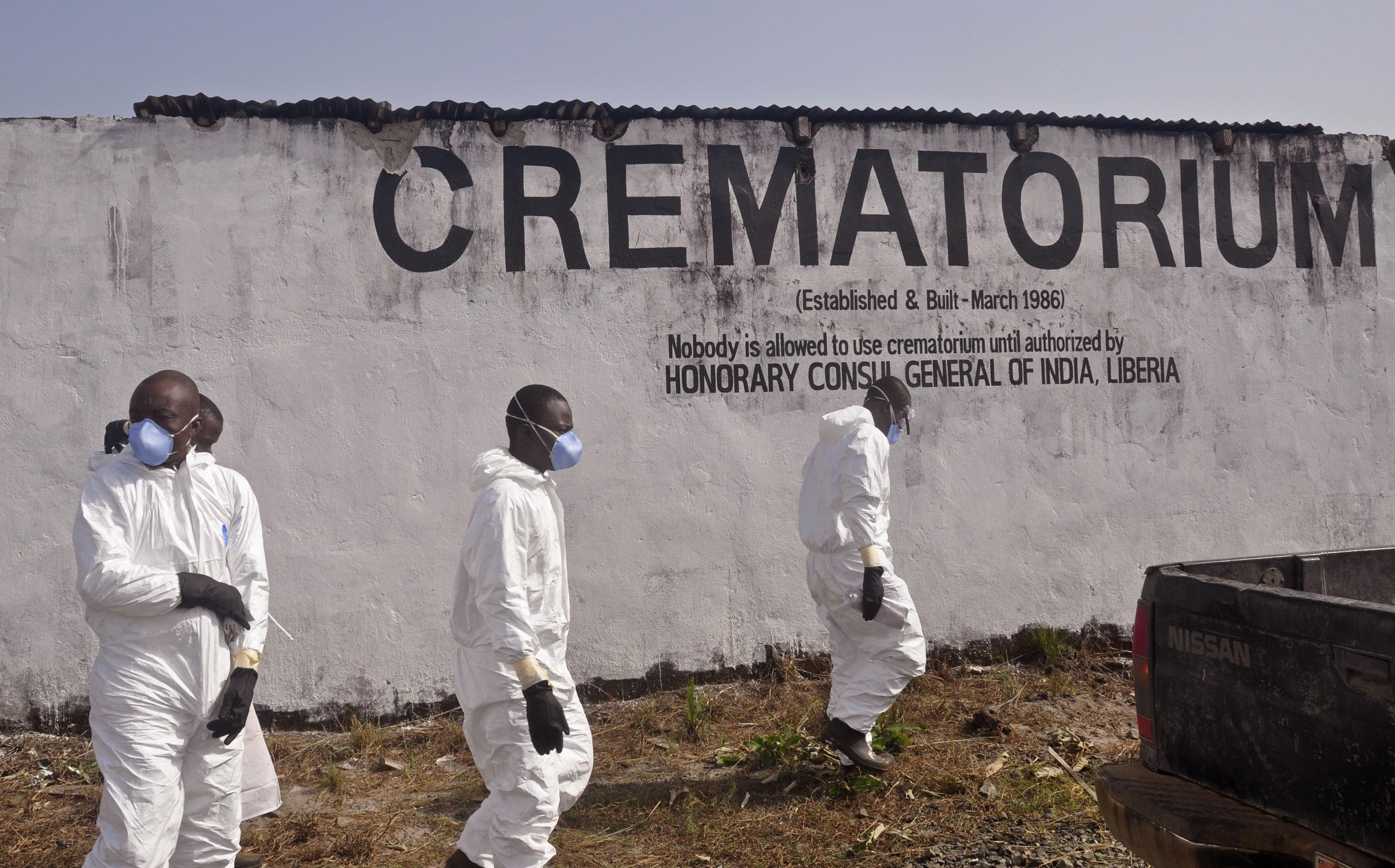 ebola crimatorium