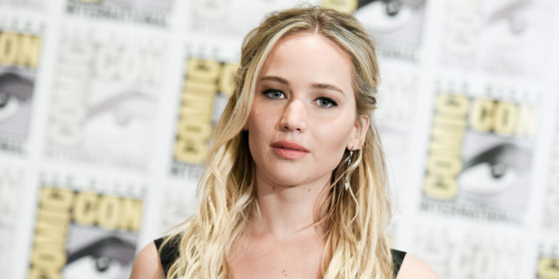 """Jennifer Lawrence attends """"The Hunger Games: Mockingjay Part 2"""" press line on day 1 of Comic-Con International on Thursday, July 9, 2015, in San Diego, Calif. (Photo by Richard Shotwell/Invision/AP)"""