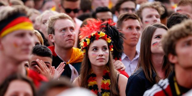 Deutschland-Fans während der Fußball-Weltmeisterschaft 2014