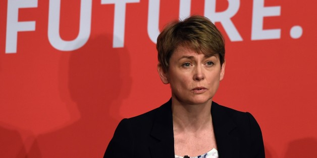 Yvette Cooper takes part in a Labour Party leadership hustings event in Warrington, north west England on July 25, 2015, hosted by journalist Paul Waugh. With Britain's political class starting its summer recess this week, commentators say Labour must consider whether it wants to be simply a principled opposition or a party with a real shot at power at the next general election in 2020. AFP PHOTO / PAUL ELLIS        (Photo credit should read PAUL ELLIS/AFP/Getty Images)