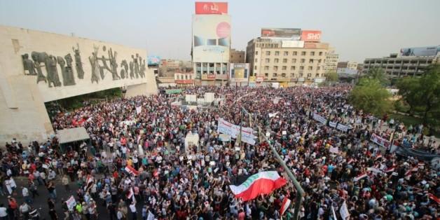 Manifestation à Bagdad, le 7 août 2015, contre la corruption et l'incurie dans l'administration irakienne