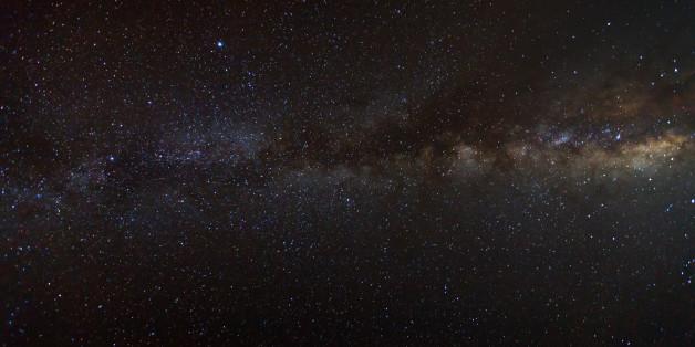 Milky Way galaxy, Long exposure photograph