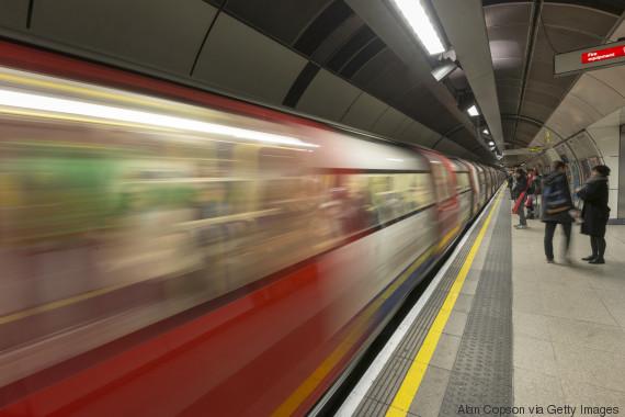 woman london underground
