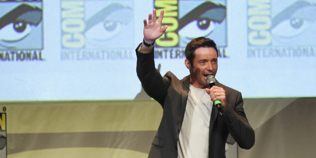 SAN DIEGO, CA - JULY 11:  Actor Hugh Jackman speaks onstage at the 20th Century FOX panel during Comic-Con International 2015 at the San Diego Convention Center on July 11, 2015 in San Diego, California.  (Photo by Kevin Winter/Getty Images)