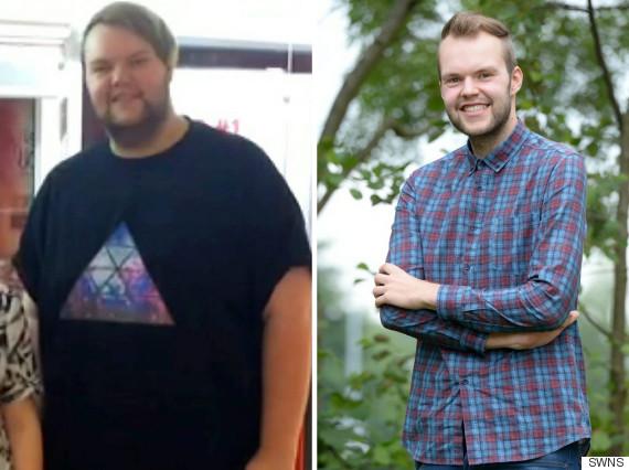 overweight man