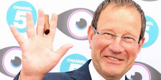 Richard Desmond arrives at the Big Brother Launch Party, at Elstree in Borehamwood, Hertfordshire.