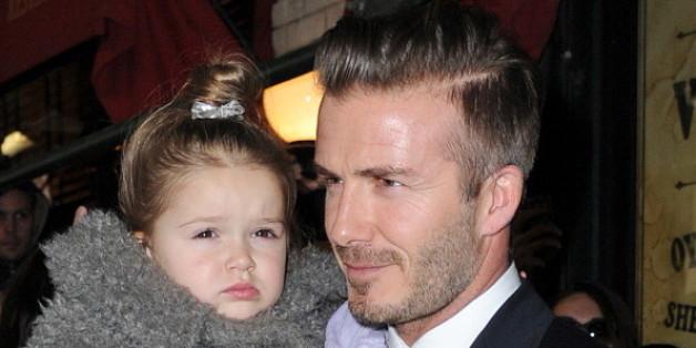 David Beckham mit seiner Tochter