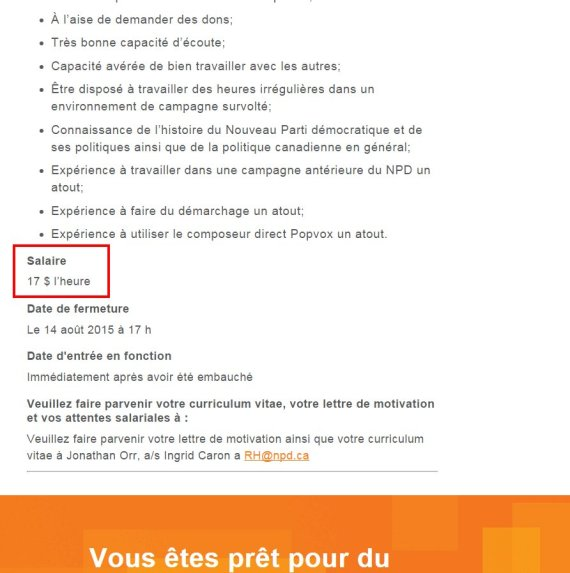 ndp ad french
