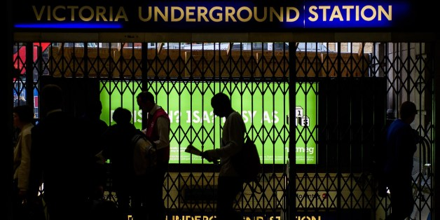 The gates at Victoria underground station are shut as a 24 hour tube strike hits London at Victoria station, central London on August 6, 2015. The strike began at 6:30 pm (1730 GMT) on August 5 and will run until Friday morning, causing disruption for millions of commuters and tourists. AFP PHOTO/Leon Neal        (Photo credit should read LEON NEAL/AFP/Getty Images)