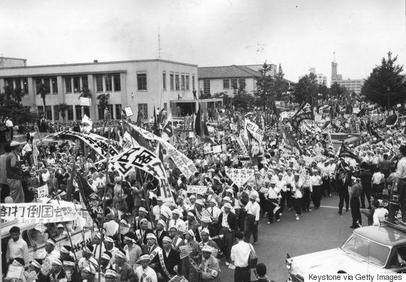 kishi protest