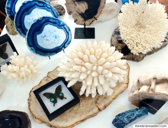 crystals and coral