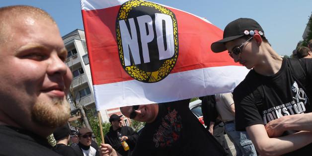 Ein NPD-Aufmarsch im Jahr 2012 in Berlin