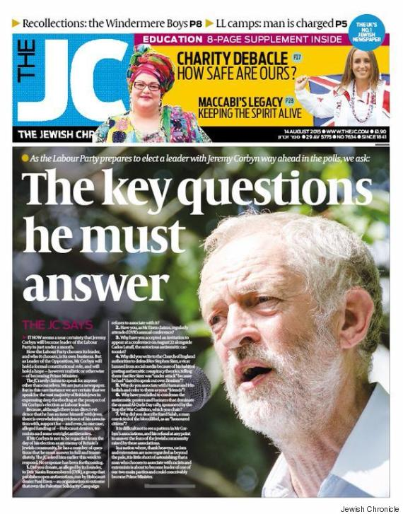 corbyn jewish chronicle