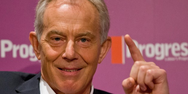 Britain's former Prime Minister and former Labour Party leader, Tony Blair, speaks at an event attended by Labour supporters in central London on July 22, 2015. Blair weighed in on the leadership contest in Britain's opposition Labour party as a new poll electrified the race by putting leftwinger Jeremy Corbyn ahead. Blair, a moderniser who was Labour's longest-serving premier, urged the party to avoid tacking to the left if it is to recover from a crushing defeat in May's general election and win the next one in 2020.   AFP PHOTO / JUSTIN TALLIS        (Photo credit should read JUSTIN TALLIS/AFP/Getty Images)