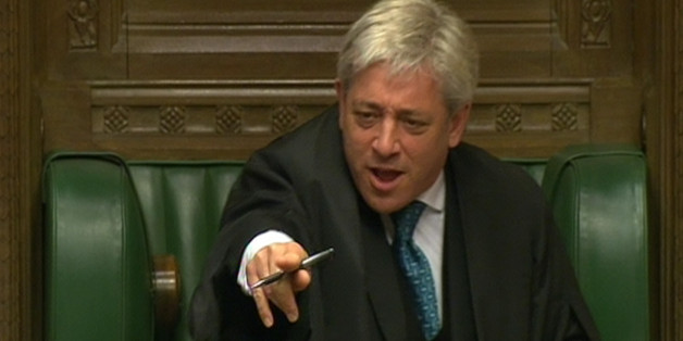 Commons Speaker John Bercow speaks during Prime Minister's Questions in the House of Commons, London.