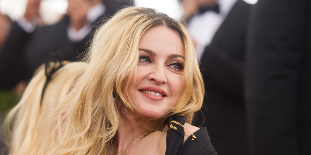 "Madonna arrives at The Metropolitan Museum of Art's Costume Institute benefit gala celebrating ""China: Through the Looking Glass"" on Monday, May 4, 2015, in New York. (Photo by Charles Sykes/Invision/AP)"