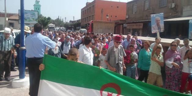 Manifestation du FFS le 20 août 2014 à Ifri, Ouzellaguen
