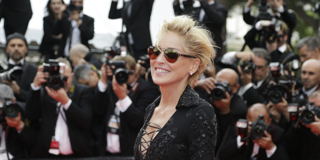 Actress Sharon Stone arrives for the screening of The Search at the 67th international film festival, Cannes, southern France, Wednesday, May 21, 2014. (AP Photo/Thibault Camus)