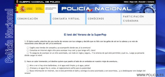 test policia