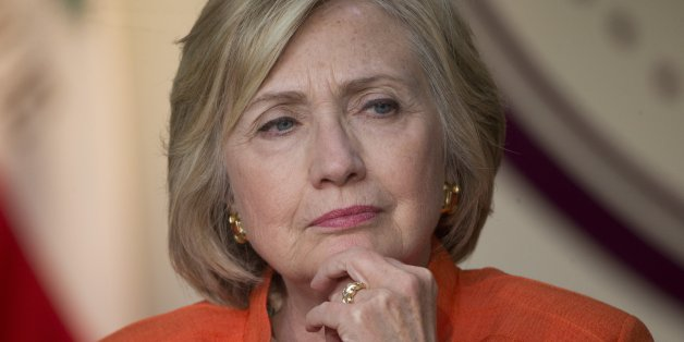 Democratic presidential candidate Hillary Rodham Clinton listens during a roundtable discussion on home care, Thursday, Aug. 6, 2015, in Los Angeles. (AP Photo/Jae C. Hong)