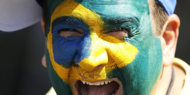 Ein Demonstrant in Brasilien am vergangenen Sonntag