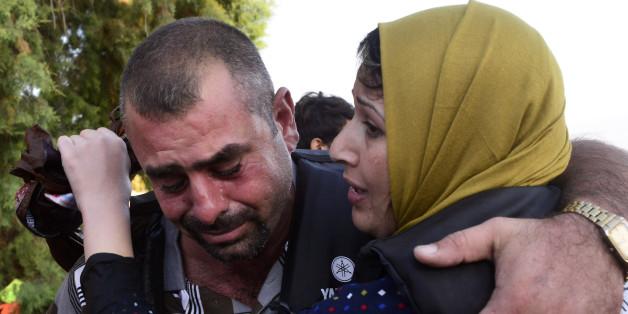 Flüchtlinge bei der Landung an der griechischen Insel Kos