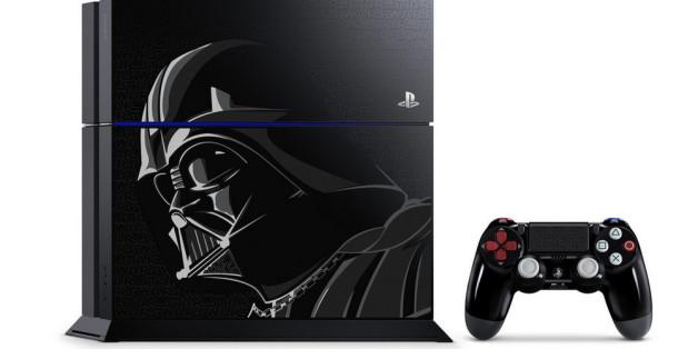 Ein echter Hingucker: Die Playstation 4 im Darth-Vader-Design