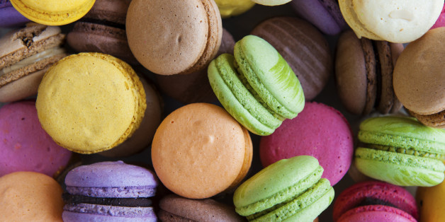 Multi-Coloured french Macarons.