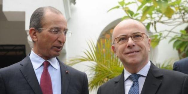 Mohamed Hassad et Bernard Cazeneuve, les ministres de l'Intérieur marocain et français