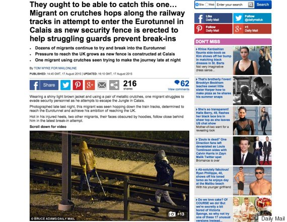 daily mail migrants story 17 august