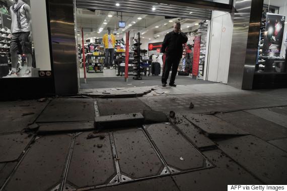 exploding pavements london