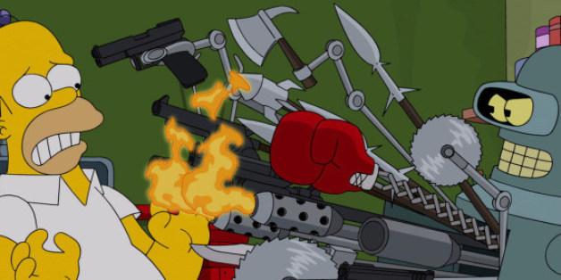 """Bender aus """"Futurama"""" wird eine Auftritt bei den """"Simpsons"""" haben"""