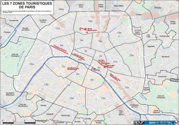 zones touristiques paris